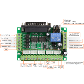 برد کنترل پنج محور MACH3 Interface board