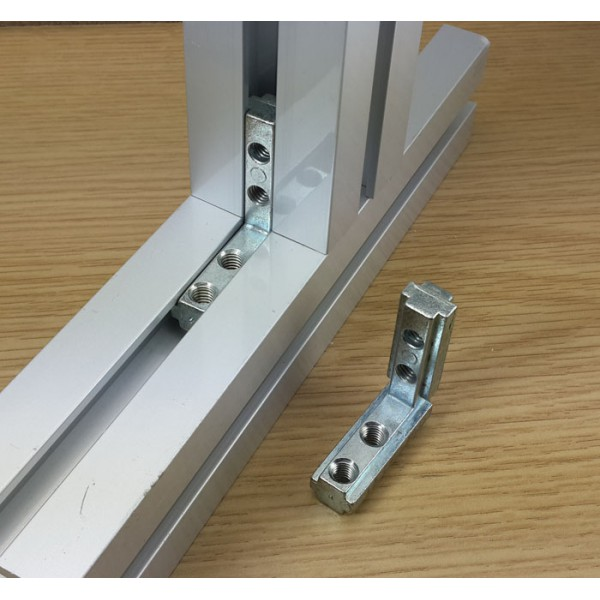 اتصال زانویی 90 درجه مناسب برای پروفیل مهندسی 40x40