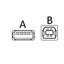 کابل usb نوع A به نوع B مناسب برای انواع بردهای کنترلی
