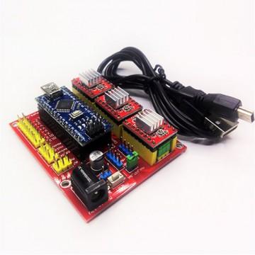 برد کنترل سی ان سی نسخه 4 مناسب برای دستگاه سی ان سی و لیزر ،مبتنی بر GRBL