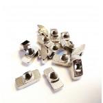 مهره T (تی) M6 شیار 8 آبکاری کروم مناسب برای پروفیل های صنعتی