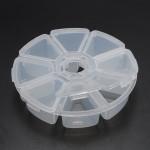 جعبه پلاستیکی 8 قسمتی گرد Plastic Storage Box 8 Cells