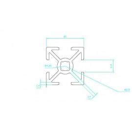پروفیل آلومینیومی شیاردار (پروفیل مهندسی) 20x20