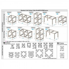 پروفیل آلومینیومی شیاردار (پروفیل مهندسی) 30x30